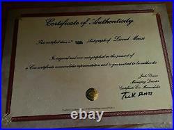 Maillot Messi Barcelone Autographé Signé Avec Certificat D'authentification
