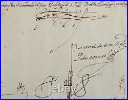 Manuscript KING PHILIP II REY FELIPE II / Governors and magistrates 1583