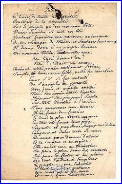 Manuscrit Autographe De Gracchus Babeuf (revolution Francaise)