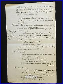 Manuscrit Autographe De Gustave Flaubert / Le Culte Des Romains