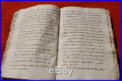 Manuscrit ancien en Italien, nombreuses pages