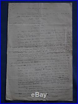 Manuscrit de Frédéric Mistral