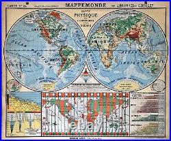 Mappemonde Hatier par Brunhes Et Bruley Numéro 24 Idem Vidal Lablache