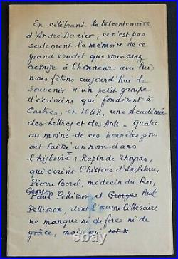 Marcel PAGNOL autographe