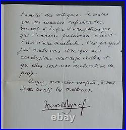 Marcel PAGNOL autographe à Marcel THIEBAULT