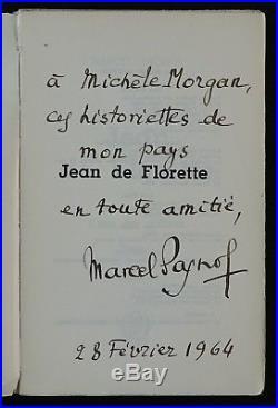 Marcel PAGNOL autographe à Michèle MORGAN! Jean de Florette