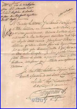 Marechal Augereau / Lettre Signée (1812 / Berlin)