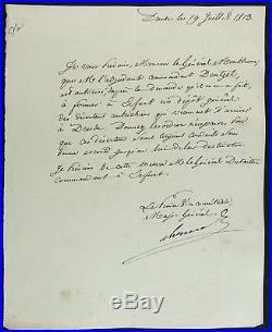 Maréchal BERTHIER autographe / Bataille de DRESDE 1813