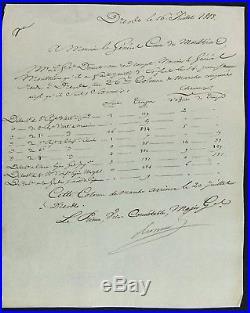 Maréchal BERTHIER autographe / Bataille de DRESDE 1813 / GARDE IMPERIALE