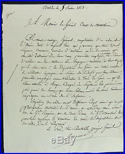 Maréchal BERTHIER autographe / Bataille de DRESDE 1813 / SAPEURS