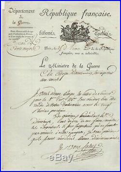 Maréchal Berthier / Lettre Signée (1802) / Au Citoyen Martial Daru / Napoléon