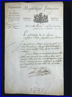 Maréchal Berthier / Lettre Signée (1802) / Inspecteur Des Revues / Napoléon