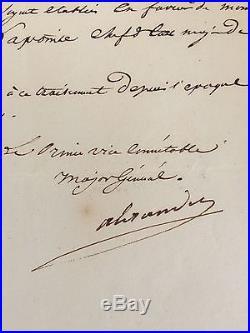 Marechal Berthier / Lettre Signée (1813) /(la Jeune Garde)
