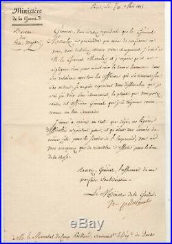 Maréchal Davout / Lettre Signée / Marulaz / Napoléon / Cent-jours / Besançon