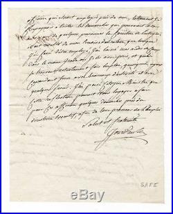 Marechal Jourdan / Lettre Autographe (1797) / En Faveur De Son Aide De Camp