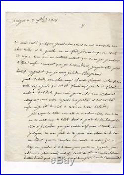 Marechal Lannes / Lettre Autographe (1808) / Bataille De Tuleda / À Sa Femme