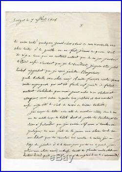 Marechal Lannes / Lettre Autographe (1808) / Campagne D'espagne / Napoléon
