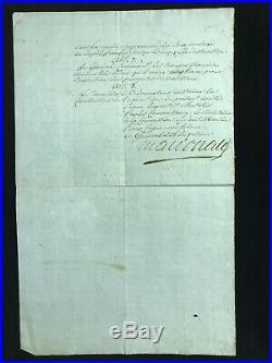 Maréchal Macdonald / Document Signé / Rome (1798) / Campagne D'italie / Napoléon
