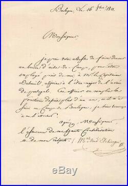 Maréchal Ney / Lettre Signée (1811) À Alexandre Berthier / Napoléon / Boulogne