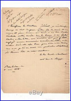 Maréchal Oudinot / Lettre Autographe (1828) / Bar Le Duc / Duc De Reggio