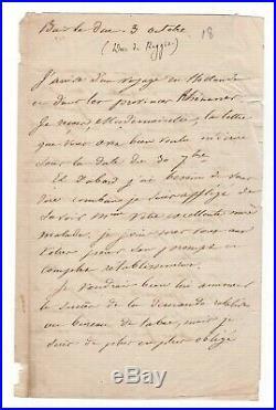 Maréchal Oudinot / Lettre Autographe Signée (1820) / Bar Le Duc / Napoléon