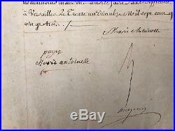 Marie Antoinette / Document Signé (1783) / Tresorier Du Roi / Versailles /