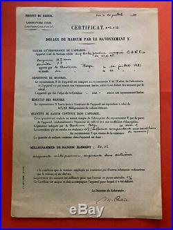 Marie CURIE Pièce signée (NOBEL RADIUM)