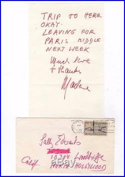 Marlene Dietrich / Lettre Autographe Signée (1976) / New-york /