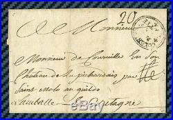 Marque postale COLONIES PAR LA FLOTTE s/lettre de St-DOMINGUE -1766 / Cote 700