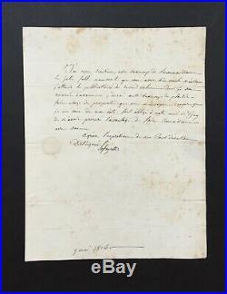 Marquis de LAFAYETTE Général Lettre signée Signed letter 1824