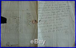 Marquis de SADE, Lettre Autographe Signée