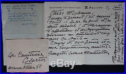 Maurice MAETERLINCK & Georgette LEBLANC autographes #2