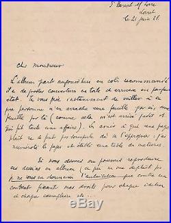 Max Jacob / Lettre Autographe Signée (1926) / Le Sagittaire / Kra