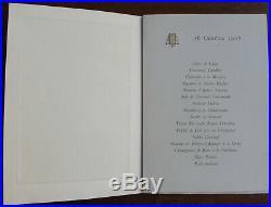 Menu Souverains Bulgares Elysee 16 Octobre 1905 Loubet Ferdinand Prince Saxe