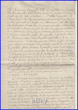Merda / Lettre Signèe (1810) / Mauvaise Conduite D'un Régiment / Robespierre
