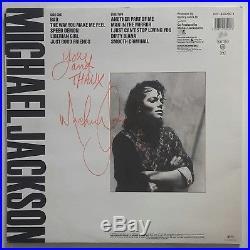 Michael jackson signed Bad Album autograph Rare no promo