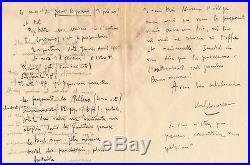 Michel Dimitri Calvocoressi Debussy Coronio lettre autographe signée manuscrit