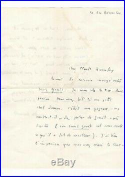 Michel Foucault / Lettre Autographe (1965) / Jean Genet / Jean Paul Sartre