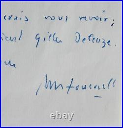 Michel Foucault va rencontrer Gilles Deleuze