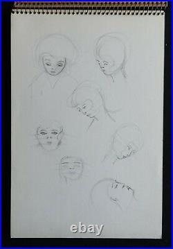 Michèle MORGAN carnet de dessin