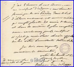 Militaire Maréchal Empire OUDINOT duc Reggio lettre autographe signée ministre