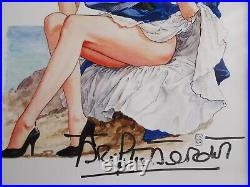 Milo Manara / Brigitte Bardot Autographe sur Photo