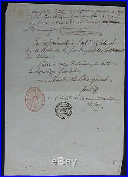 Ministres FOUCHE & FORFAIT autographe 1799