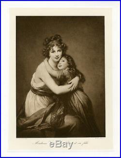 Mme VIGEE LE BRUN et SA FILLE Heliogravure originale BRAUN CLEMENT & Cie 1890