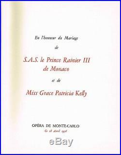Monaco Mariage Rainier Grace Rarissime Programme Opera Danse Cocteau