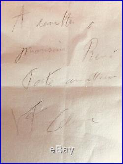 Mot autographe signé Louis Ferdinand Celine