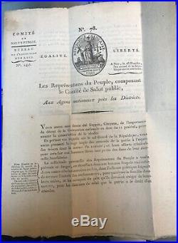 N13-bec D'ambés-comite De Salut Public-carnot-robespierre-saint-just-1794