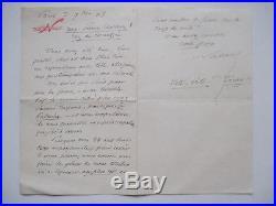 NADAR Félix Lettre autographe à STEINLEN En-tête 1903 Contenu + Provenance