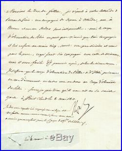 NAPOLEON 1er LETTRE AUTOGRAPHE SIGNÉE (MAI 1811) / ORGANISATION ARTILLERIE