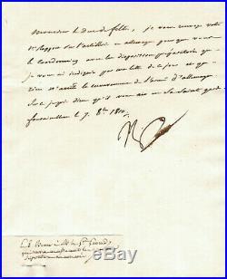 NAPOLEON 1er LETTRE AUTOGRAPHE SIGNÉE (OCT 1810) / CAMPAGNE ALLEMAGNE